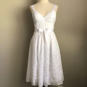 BCBG 100% cotton white dress